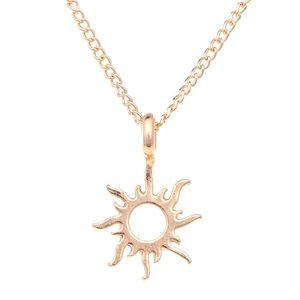 Jewelry - Good Vibes Only Sunburst Necklace (Gold & Silver)